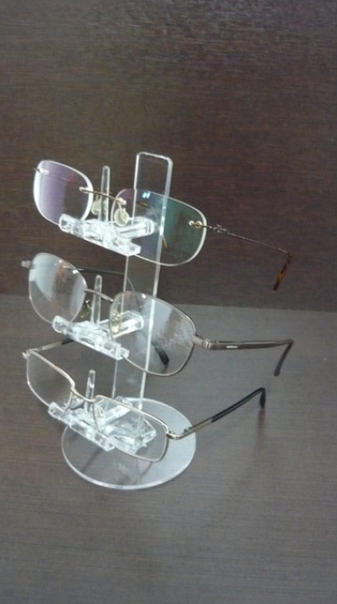 Compro Expositores em Acrílico Cristal para 3 a 6 óculos (Torre)