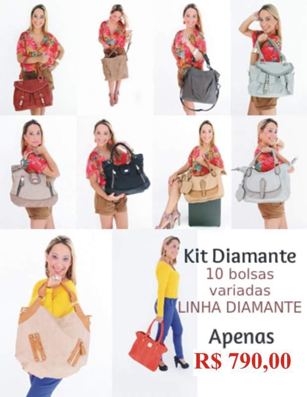 Compro Kit com 10 bolsas de Couro