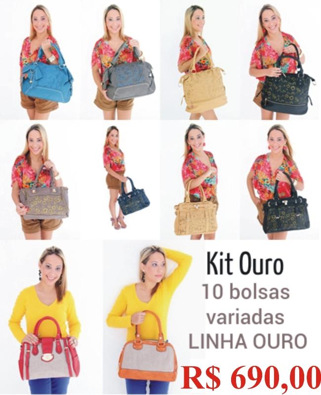 Comprar Kit com 10 bolsas de couro