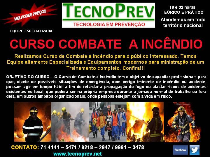 Compro CURSO DE COMBATE A INCÊNDIO