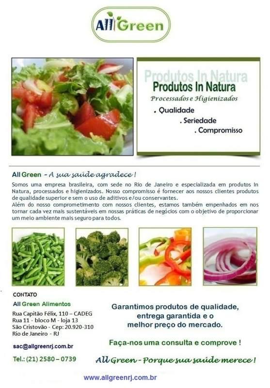 Compro Vegetais Minimamente Processados