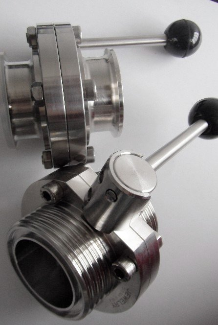 Compro Sanitary Butterfly Valve (Butt-Clamped/Welded/Thread)