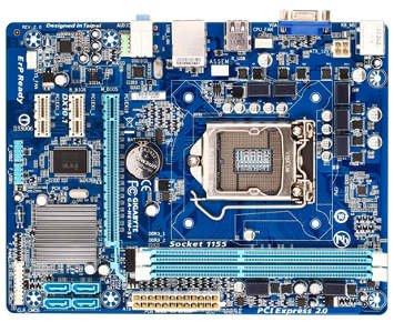 Comprar PLACA-MÃE GIGABYTE CORE I3/I5/I7 1155 AUDVIDLAN ΜATX (GA-H61M-S1/CX)