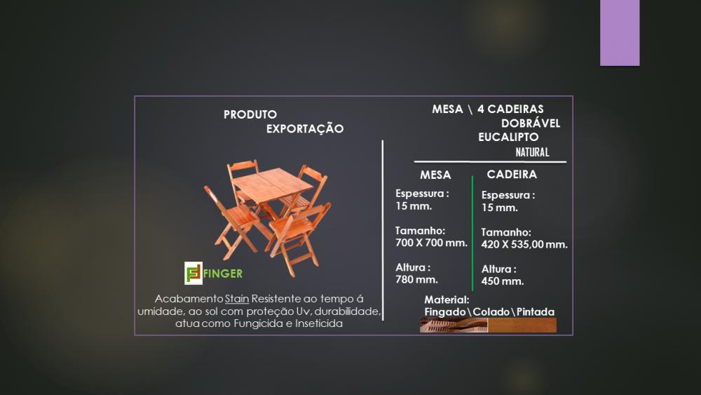Comprar MESA PARA BRISTÔ \ 4 CADEIRAS DOBRÁVEL