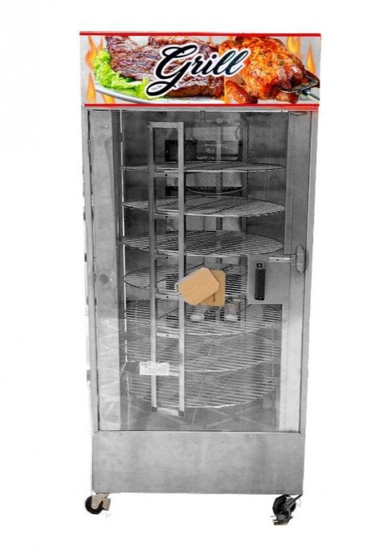 Comprar Máquina De Assar Frangos E Carnes Giratória 120kg + Mesa Para Corte + Tesoura Para Cortar Frangos