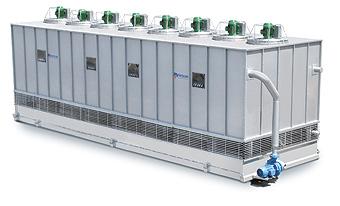 Condensadores evaporativos para amônia e outros fluídos.