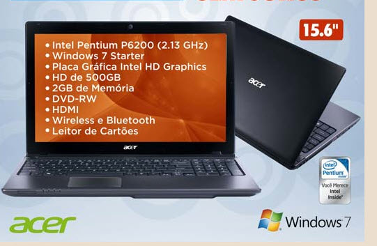 Notebook  Acer Dual Core 4898