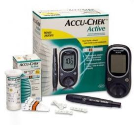 Compro Accu-Chek Active Monitor de Glicemia.