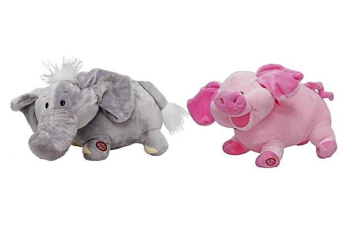 Elefante de pelúcia.