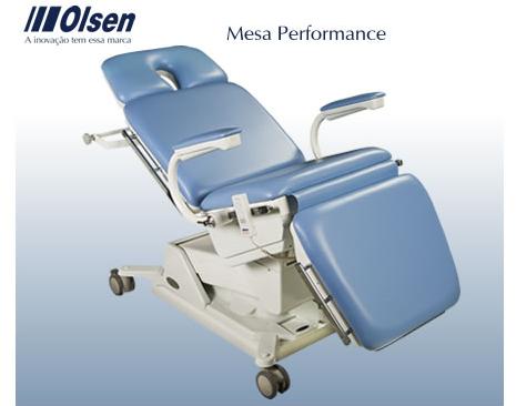 Compro A mesa Performance é um equipamento projetado para atender exames e procedimentos cirúrgicos odontológicos, dermatológicos e cirurgias plásticas.