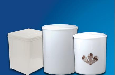 Compro Embalagens para sorvete - tradicionais baldes plásticos rígidos desenvolvidos e fabricados especificamente para a indústria de sorvetes.