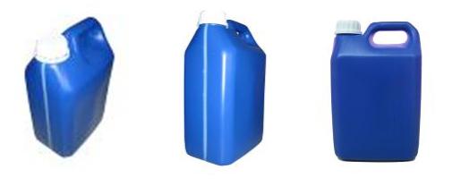 Compro Embalagem 5 litros na cor azul, para produtos diversos.