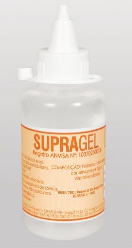 Compro Gel Contato Supragel, auxilia por meio de contato para condutividade sônica durante os procedimentos de ultra-sonografia.