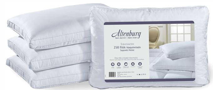 Compro Altenburg 250 fios suporte firme - revestimento em cetim 250 fios 100 algodão, com toque de seda, oferece o máximo conforto para uma noite dos sonhos.