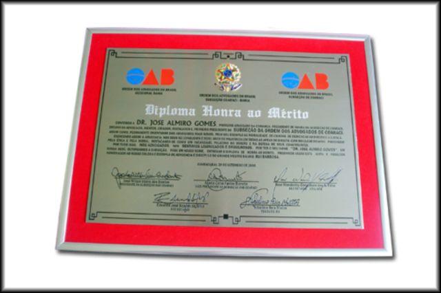 Compro Diplomas em Aço Escovado