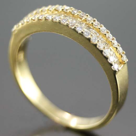 Compro Porta Aliança de Ouro Amarelo e Diamantes