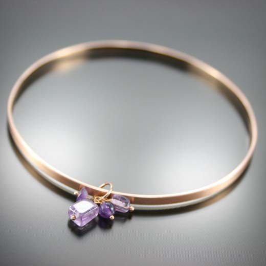 Compro Pulseira de Ouro Rosa com Pedras Brasileiras