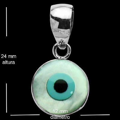 Compro Pingente de prata olho grego