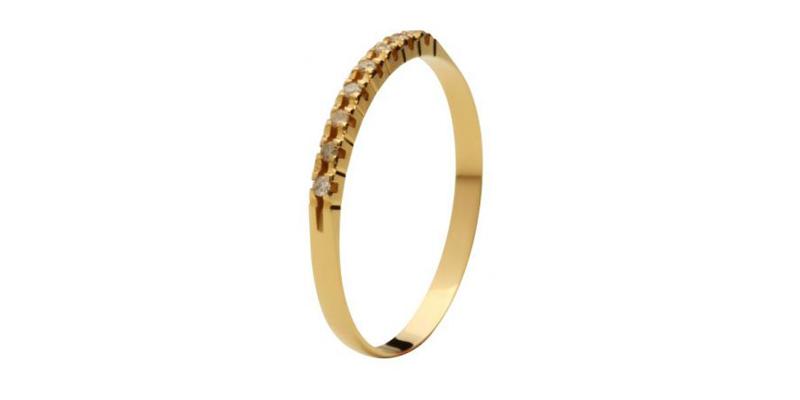 Compro Aliança em Ouro 18k com Diamantes