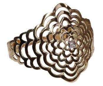 Compro Bracelete em ouro 18K com diamante