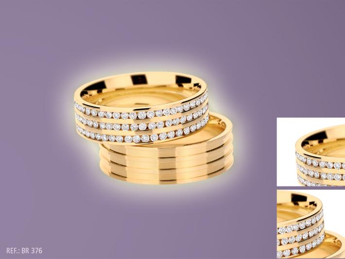 Compro Aliança com diamantes