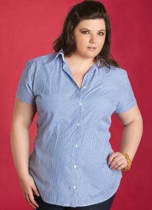 Compro Camisa Feminina Listrada