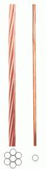 Cordoalhas de cobre nú