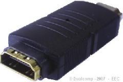 ADAP. HDMI FEMEA X HDMI MACHO DOURADO