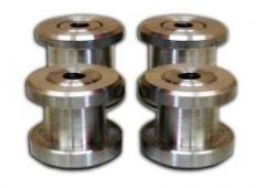 Buchas em aluminio