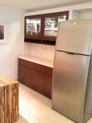 Cozinha laca branca imbuia teka