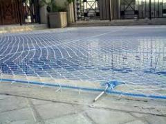 Redes de piscinas para segurança