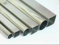Tubos quadrados em aço inox