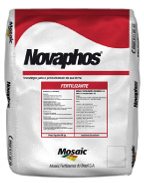 Fertilizante Novaphos (uma mistura de grânulos NPK