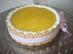 Torta Mousse Maracujá e Light