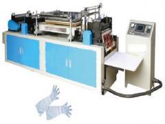 Corte e Solda para produção de luvas longas em CPE