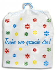 Bolsa Plástica com Alças Embutidas