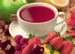 Chá feito de frutas
