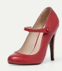 Sapato boneca vermelho