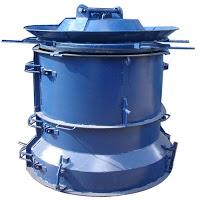 Forma para fabricacao manilhas e tubos de concreto