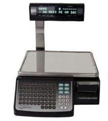 Balança de última geração com impressor de código de barras embutido