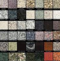 Granitos, mármores, blindex, e outros.