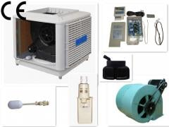 Centrifugal evaporative air cooler