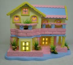 Casa de isopor para festa infantil