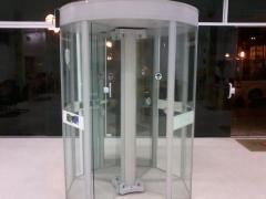 Porta giratoria com detector de metais