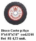 Disco Corte p/Aço