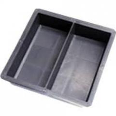 Fôrma Plástica Dupla (Geminada) para Piso Peyver, H4 (Tijolinho/Intertravado), KIT c/ 40 unidades