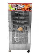 Máquina De Assar Frangos E Carnes Giratória 120kg + Mesa Para Corte + Tesoura Para Cortar Frangos