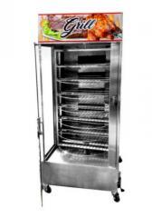 Máquina De Assar Frangos E Carnes Giratória 90kg + Mesa Para Corte + Tesoura Para Cortar Frangos