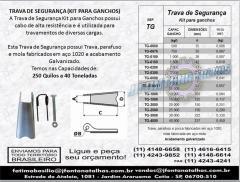 Trava de Segurança (Kit para Ganchos) J Fontana Talhas MF