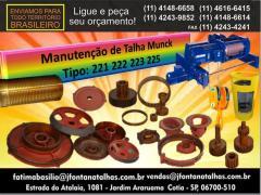 Peças para Talhas Elétricas Munck 221/223/225 J Fontana Talhas MF
